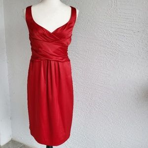 Jones Wear Red Satin Dress Sz. 14